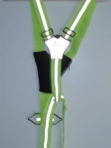 My husband's Amphipod vest; ideal for running or biking in the dark.